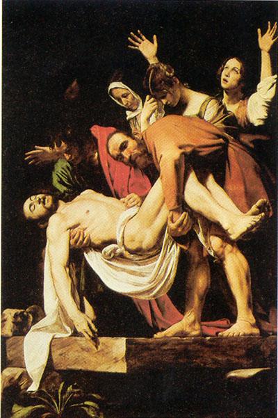 A Deposição de Cristo, de Caravaggio. Fonte: Wikipedia